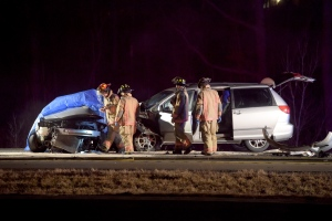 Hamilton police say one person is dead following a multi-vehicle crash late Tuesday night. (Andrew Collins/ CP24)