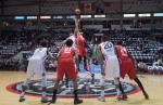 The Raptors 905 and the Maine Red Claws take part in the first tip off for the NBA Development League at the Hershey Centre in Mississauga, Ontario Thursday November 19, 2015. THE CANADIAN PRESS/Frank Gunn