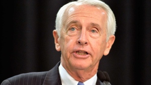 In this Dec. 1, 2015 file photo, then-Kentucky Governor Steve Beshear speaks in Louisville, Ky. (AP Photo/Timothy D. Easley, File)