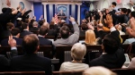 Reporters raises their hands as White House press secretary Sean Spicer takes questions during the daily briefing in the Brady Press Briefing Room of the White House in Washington, Wednesday, Feb. 22, 2017. (AP Photo / Pablo Martinez Monsivais)
