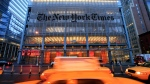 In this April 21, 2009 file photo, The New York Times headquarters is shown in New York. (AP Photo/Mark Lennihan, file)