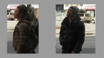 A man and woman being sought in connection with a stabbing investigation are pictured in these images released by Toronto police Sunday February 26, 2017. (Handout)