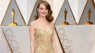 Emma Stone arrives at the Oscars on Sunday, Feb. 26, 2017, at the Dolby Theatre in Los Angeles. (Photo by Jordan Strauss/Invision/AP)