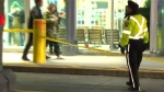 Police investigate after a woman was struck by a GO bus at Union Station Sunday February 26, 2017.