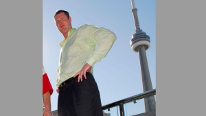 Neil Fingleton stands at 7'7.56 in Toronto in this file photo from Monday, August 13, 2007. (CP PHOTO/Aaron Harris)