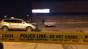One suspect is in custody after a stabbing at Shoeless Joe's near Dufferin Street and Orfus Road. (Mike Nguyen/ CP24)