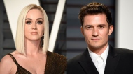 Katy Perry and Orlando Bloom are picture din this composite image. (AP)