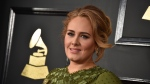 Adele arrives at the 59th annual Grammy Awards at the Staples Center in Los Angeles on Feb. 12, 2017. (Jordan Strauss/Invision/AP)