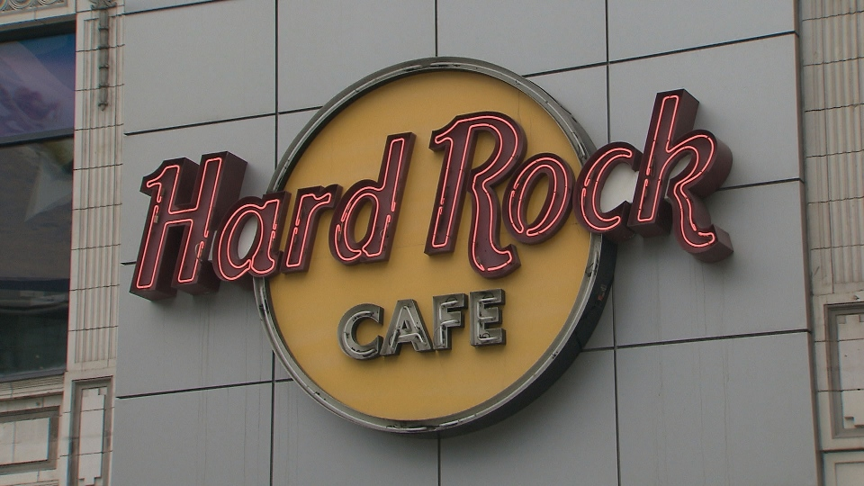 Toronto's Hard Rock Cafe at Yonge-Dundas Square is pictured.