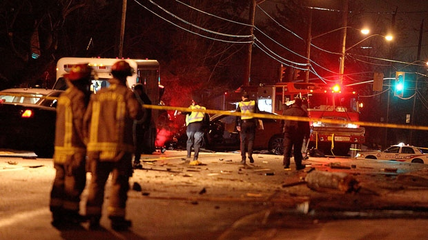One person is dead following a head-on collision in York Mills. (John Hanley/ CP24)