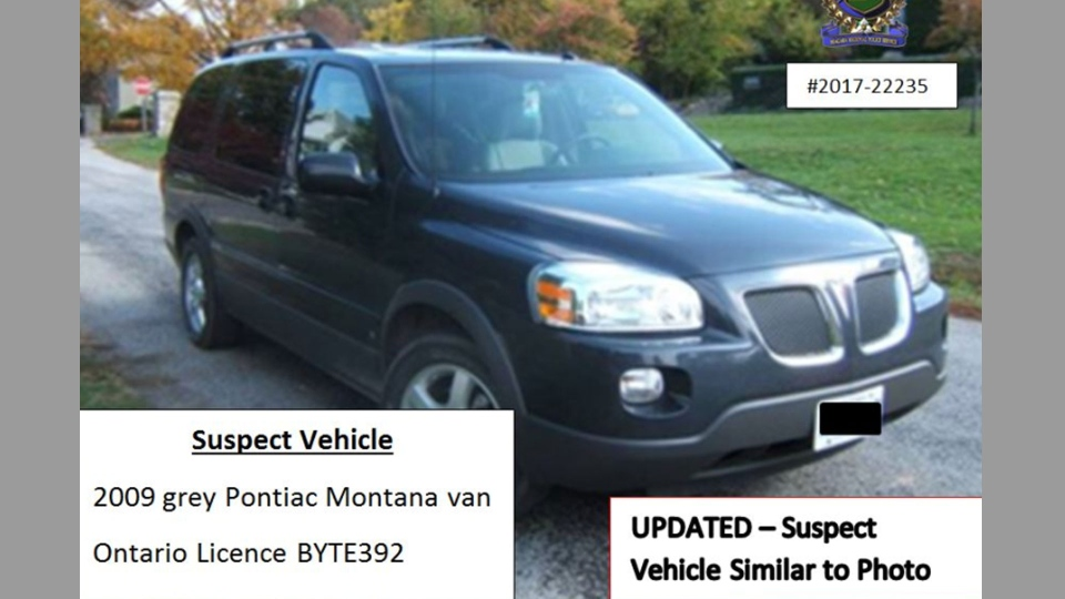 A vehicle similar to the one that Justin Kuijer is believed to be driving is pictured in this handout photo from Niagara Regional Police.