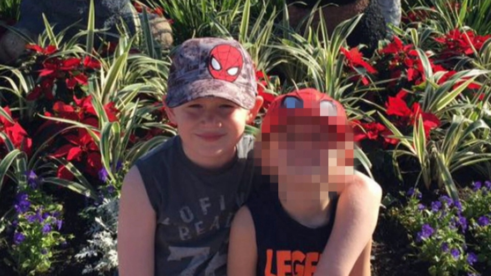 Seven-year-old Nathan Dumas, left, was found injured at a home on Friday. He died in hospital the following day. Police have not released the boy's exact cause of death. (Niagara Regional Police)