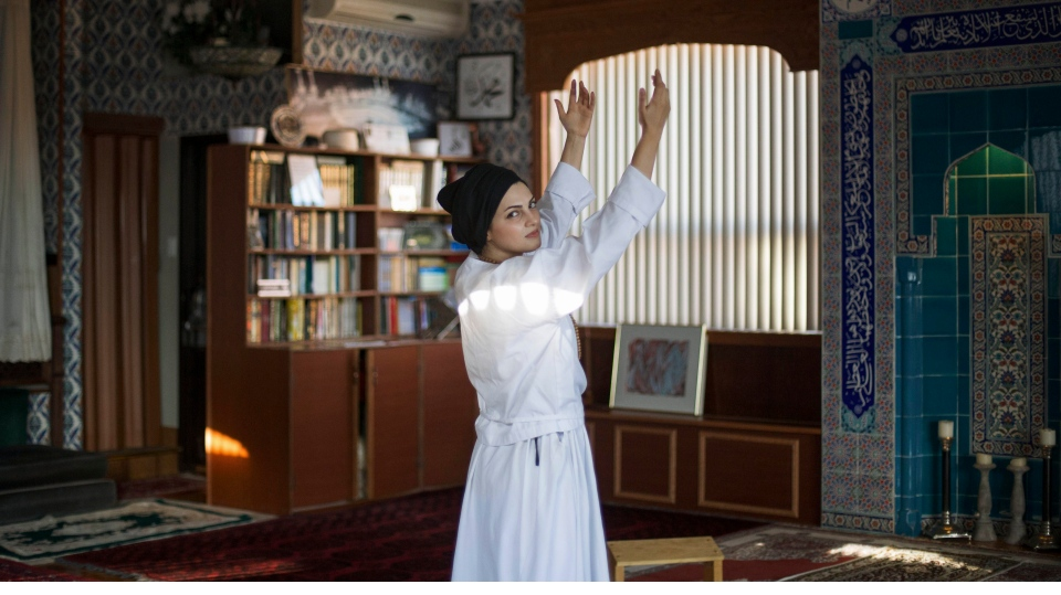 """""""This is one of my favourite spiritual places with good vibrations for me."""" Sahar, a 33 year old regulatory affair specialist in pharmaceuticals from Iran, told Alia Youssef. (Alia Youssef)"""