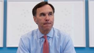 Finance Minister Bill Morneau takes part in a interview with The Canadian Press at his office in Ottawa, Thursday, March 23, 2017. THE CANADIAN PRESS/Adrian Wyld