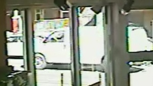 A white panel van believed to be involved in a hit and run on Wednesday is shown in a surveillance camera image. (Toronto Police)