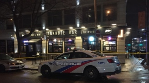 Police say a man suffered non-life-threatening injuries after a shooting in the downtown core overnight. (Mike Nguyen/ CP24)