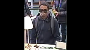 Toronto police released this photo of a suspect wanted in a bank robbery investigation. (Toronto Police Service handout)