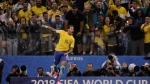 Brazil's Neymar celebrates scoring his side's 2nd goal against Paraguay during a 2018 World Cup qualifying soccer match at the Arena Corinthians Stadium in Sao Paulo, Brazil, Tuesday, March 28, 2017. (AP Photo/Andre Penner)