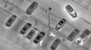 Officers are seen from Air2 arresting a home invasion suspect in Vaughan on Mar. 28, 2017. (YRP)