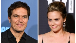 This combination of file photos shows actor Michael Shannon, left, at the 22nd annual Critics' Choice Awards on Sunday, Dec. 11, 2016, in Santa Monica, Calif., and actress Alicia Silverstone at the 9th Annual Women in Film Pre-Oscar Cocktail Party on Feb. 26, 2016, in Los Angeles. (Jordan Strauss, left, and Rich Fury/AP/Invision, Files)
