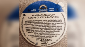 The Canadian Food Inspection Agency is warning the public not to consume Wholesome Farms' Vanilla Sundae Cups due to possible Listeria contamination. (Source: CFIA)