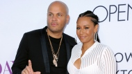 """In this April 13, 2016 file photo, Stephen Belafonte, left, and his wife Melanie Brown arrive at the Los Angeles premiere of """"Mother's Day."""" (Photo by Richard Shotwell/Invision/AP, File)"""