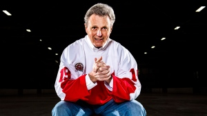 Former NHLer Paul Henderson poses for a photograph at the Vic Johnston Arena in Mississauga, Ont., on Thursday, March 30, 2017. THE CANADIAN PRESS/Nathan Denette