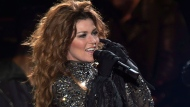 Shania Twain performs at the PEI 2014 Founders Week Concert at the Charlottetown Event Grounds in Charlottetown on Saturday, August 30, 2014. THE CANADIAN PRESS/Andrew Vaughan