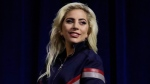 This Feb. 2, 2017 file photo shows Lady Gaga at a news conference for the NFL Super Bowl 51 football game in Houston. The diva announced Tuesday, Feb. 28, that she will be performing at Coachella for both weekends in April. Gaga will take the headlining spot that had been Beyonce's. (AP Photo/Morry Gash, File)