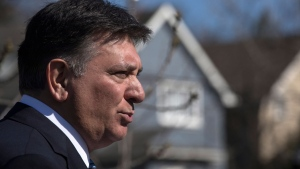 Ontario Finance Minister Charles Sousa speaks to the media after talks on housing market in the Greater Toronto Area with Federal Finance Minister Bill Morneau and Toronto Mayor John Tory in Toronto on Tuesday, April 18, 2017. THE CANADIAN PRESS/Chris Young