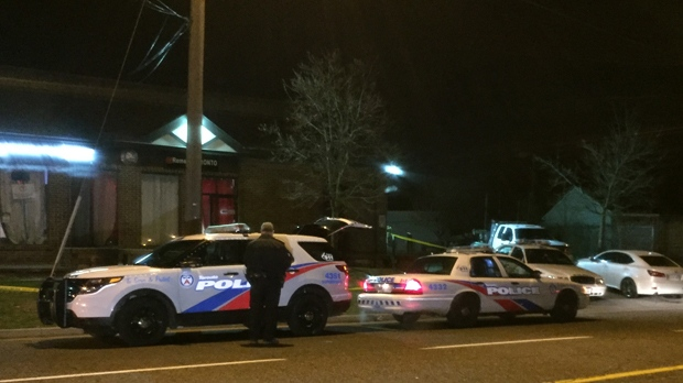 A man was rushed to a trauma centre this morning with serious injuries after a stabbing in Port Union. (Mike Nguyen/ CP24)