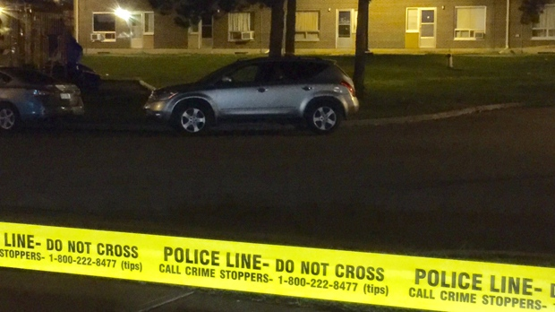 Police are investigating after shots were fired in the city's west end early Thursday morning. (Mike Nguyen/ CP24)