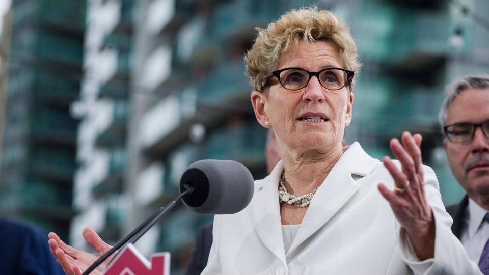 Ontario Premier Kathleen Wynne is shown in Toronto on Thursday, April 20, 2017. (THE CANADIAN PRESS / Christopher Katsarov)