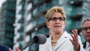 Ontario Premier Kathleen Wynne speaks about Ontario's Fair Housing Plan during a press conference in Toronto on Thursday, April 20, 2017. (Christopher Katsaro / THE CANADIAN PRESS)
