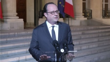 French President, Francois Hollande Paris shooting