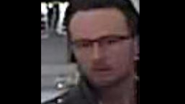 A suspect wanted in a sex assault investigation is shown in a surveillance camera image. (Toronto police)