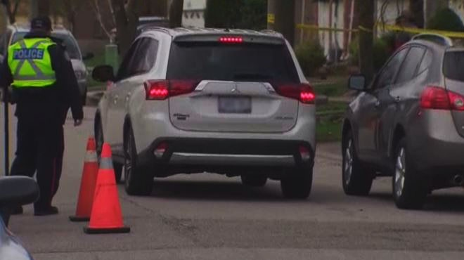 The driver of the Mitsubishi Outlander SUV involved in the collision remained at the scene, police said. (CP24)