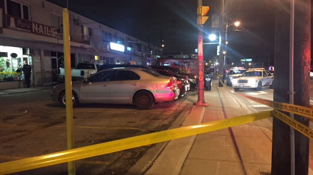 A man was found shot in a Briar Hill parking lot on Friday night. (Courtney Heels/CP24)