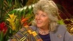 In this image from a video footage taken on May 3, 2000 in New York, the Italian-born author and conservationist Kuki Gallmann speaks during an interview. Gallmann was shot at her Kenyan ranch and airlifted for treatment after herders invaded in search of pasture to save their animals from drought, officials said Sunday, April 23, 2017. (AP Photo)