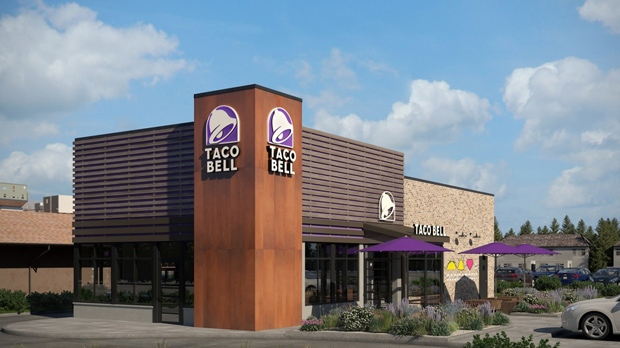 A rendering of revamped Taco Bell outlet is shown in a handout image. (Taco Bell)