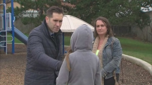 A 10-year-old girl says she and a group of friends were able to escape a potential abduction nearby her elementary school in Scarborough.