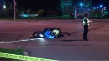 Motorcycle crash in North York