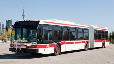 TTC articulated bus