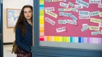 "This image released by Netflix shows Katherine Langford in a scene from the series, ""13 Reasons Why."" (Beth Dubber/Netflix via AP)"