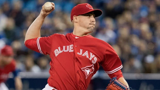 blue jays place righty sanchez disabled list with spit nail