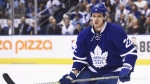 Toronto Maple Leafs defenceman Nikita Zaitsev (22) skates during first period NHL hockey round one playoff action against the Washington Capitals in Toronto on Monday, April 17, 2017. The Leafs have signed Zaitsev to a seven-year contract extension.THE CANADIAN PRESS/Nathan Denette