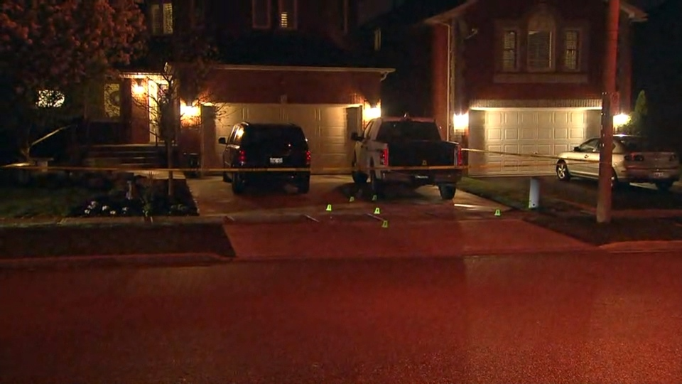 Hamilton police have cordoned off a section of Chesapeake Drive in Waterdown, Ont. for an investigation following a late afternoon shooting. (CP24)