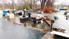 Toronto Island flood damage