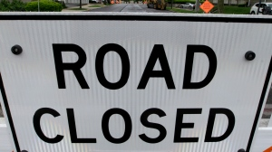 A road closure sign is pictured in this file image. (Seth Perlman/AP Photo)