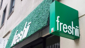 "A Freshii restaurant is seen in Montreal on Tuesday, March 21, 2017. The man behind Freshii restaurants is publicly appealing for a ""partnership"" with the much bigger Subway organization. Freshii's founder and CEO, Matthew Corrin, is calling for the conversion of ""select"" Subway sandwich shops to Freshii stores. THE CANADIAN PRESS/Ryan Remiorz"